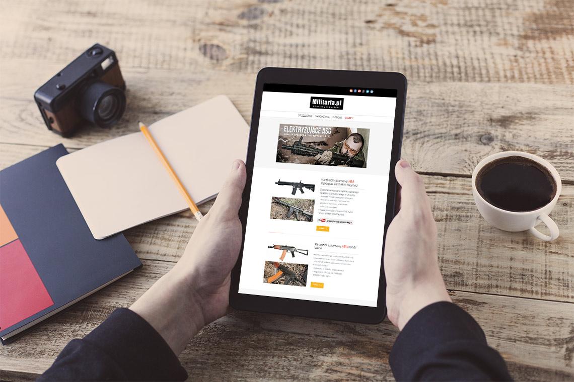Projekt mailingu responsywnego Militaria.pl