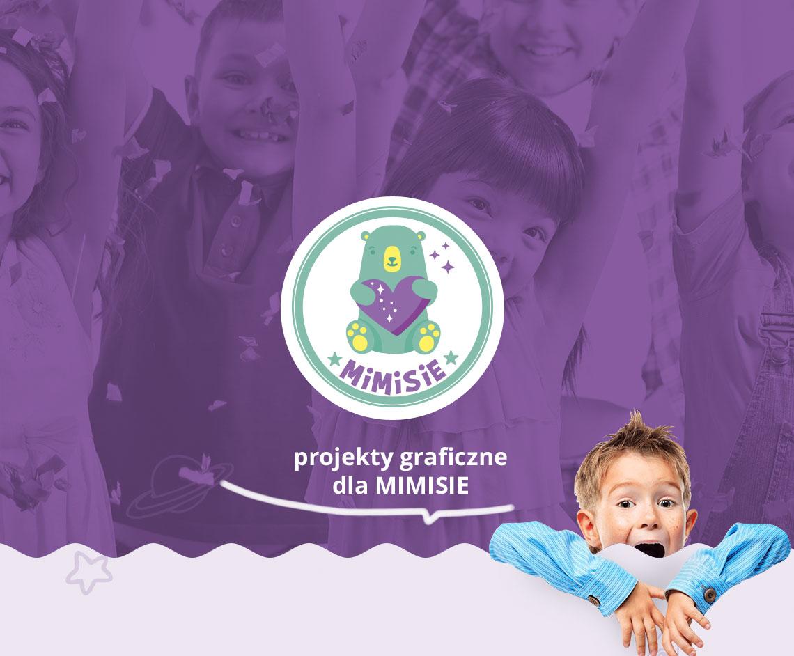 Identyfikacja wizualna projekt logo mimisie
