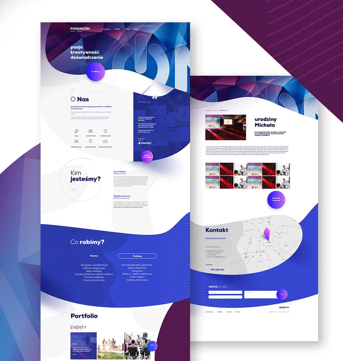 projekt logo i strona www powerkon