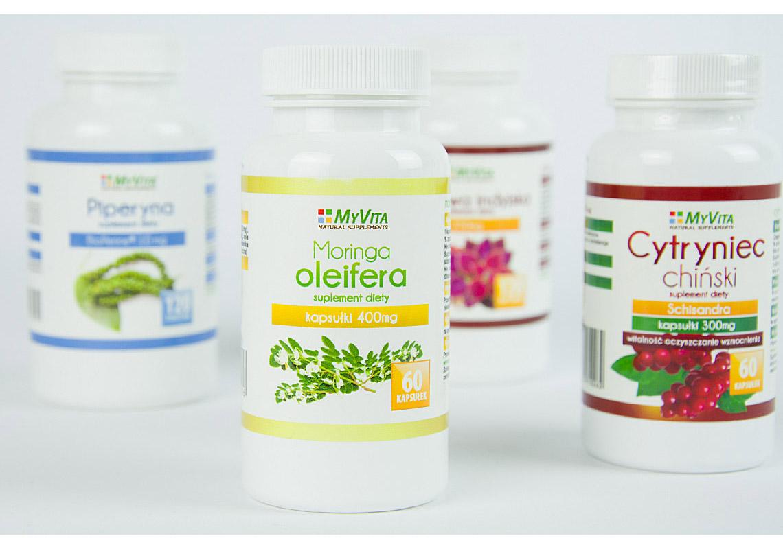 Projektowanie etykiet dla suplementów diety
