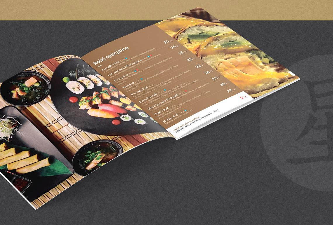Projekt menu dla restauracji