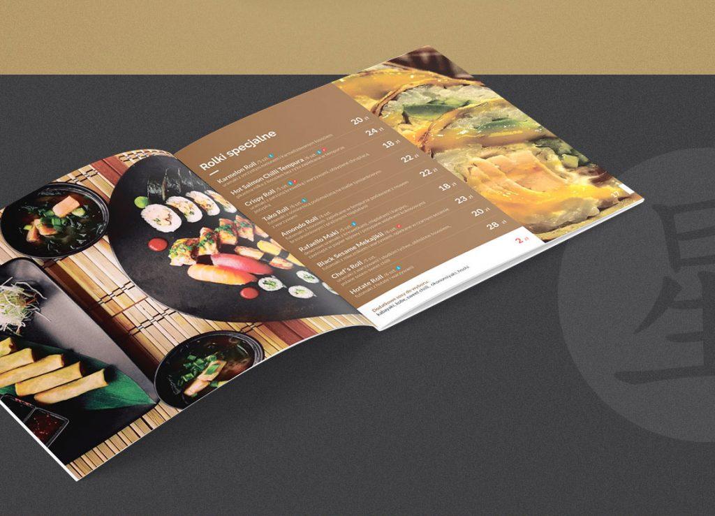 Hoshi Sushi Projekt menu