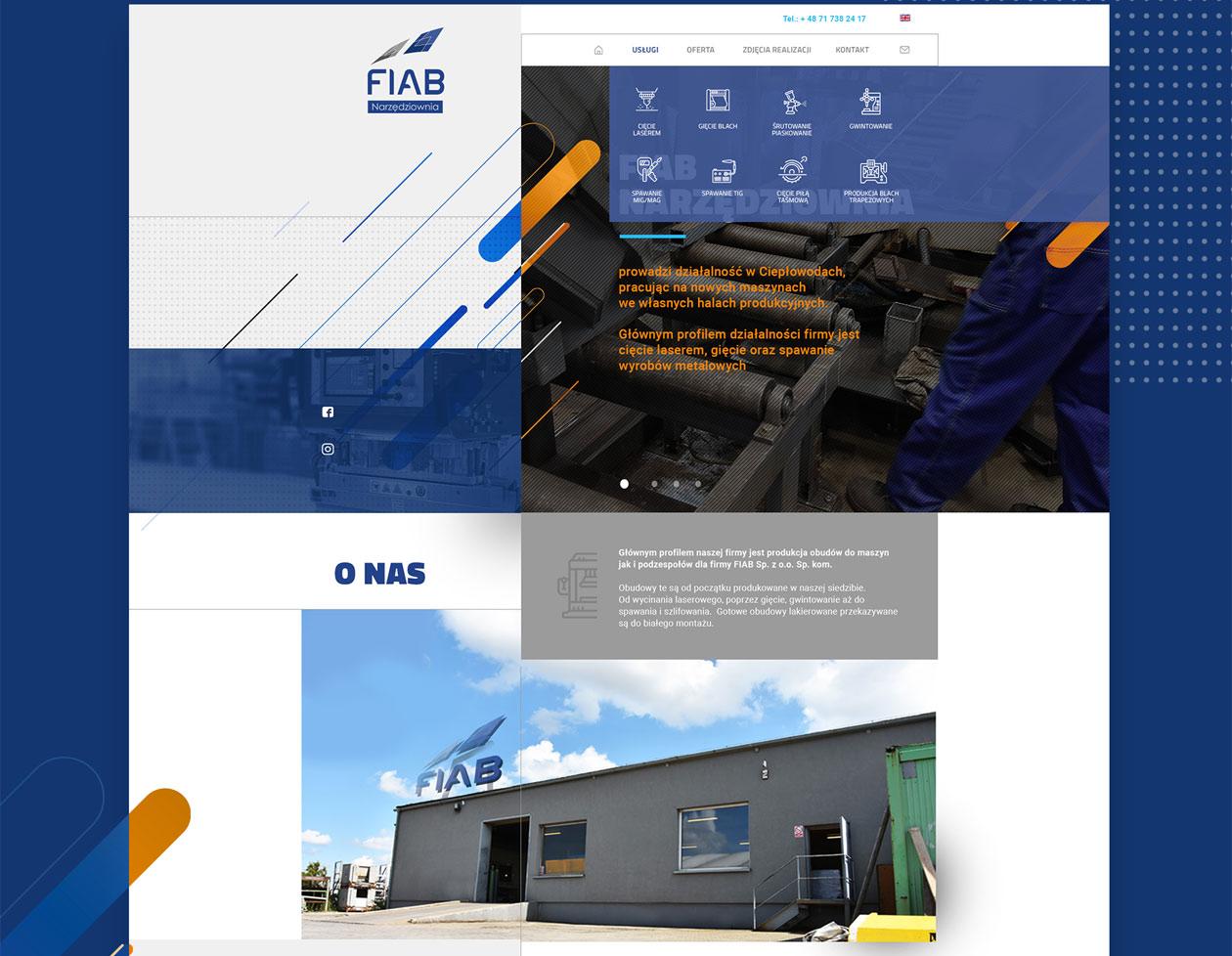 projekt strony www fiab