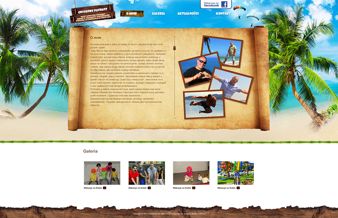 Strona internetowa pilot i animator