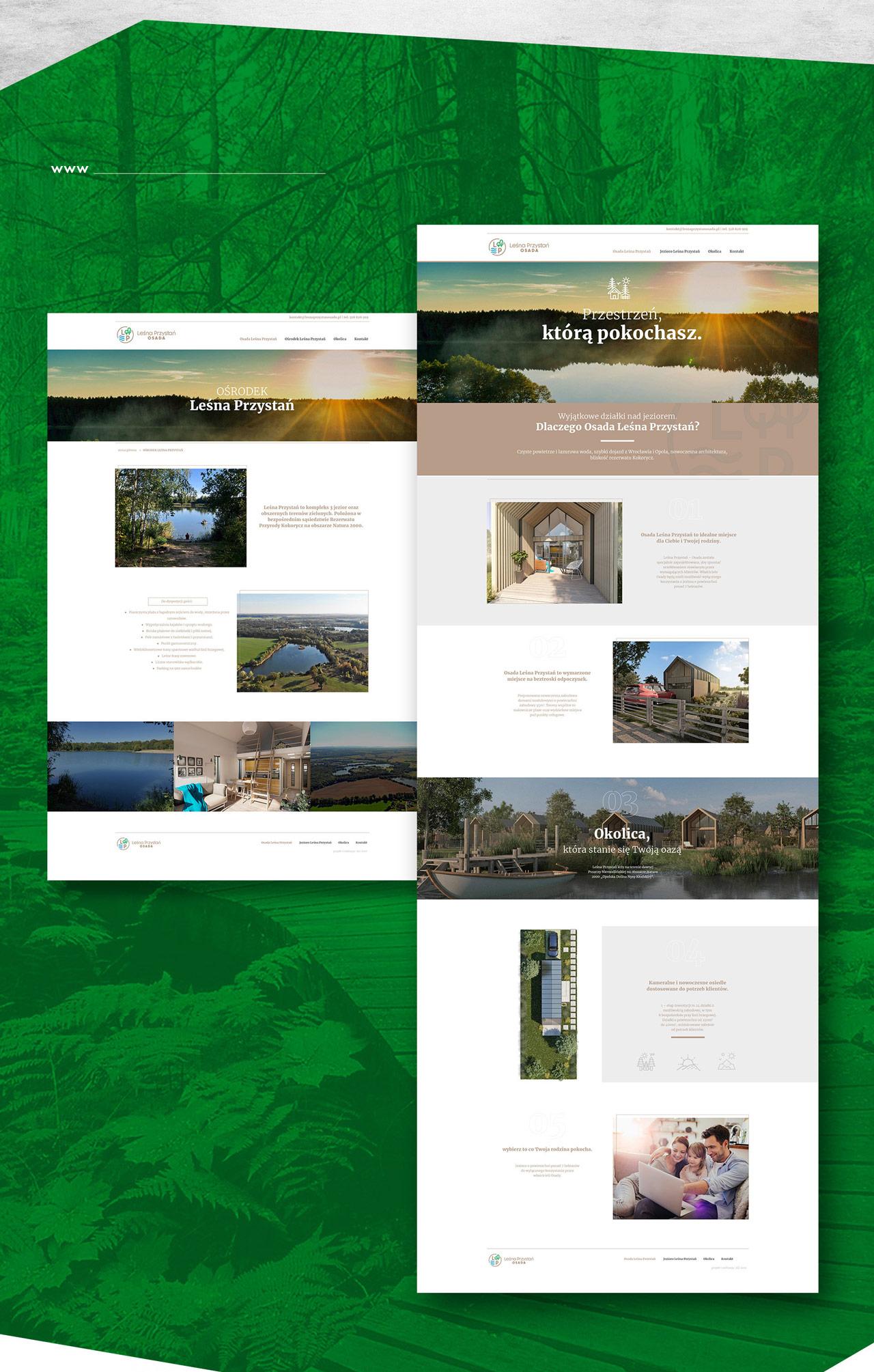 Projekt logo i www osiedle domków letniskowych