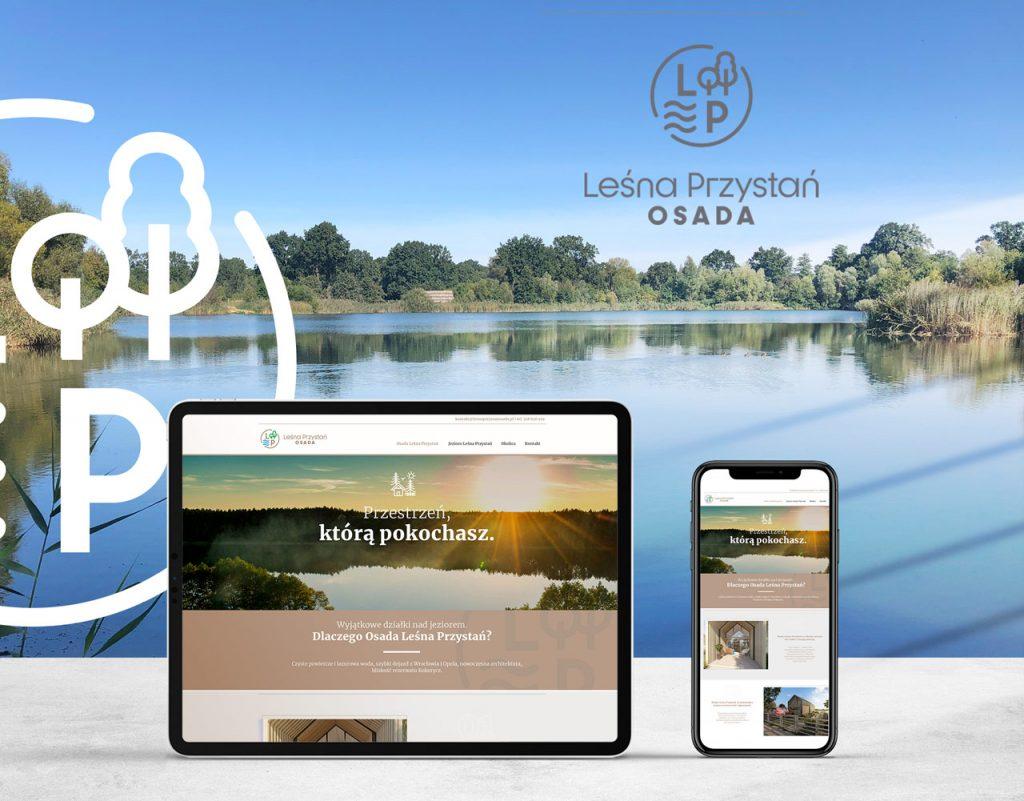 Projekt logo i strona www Leśna Przystań Osada